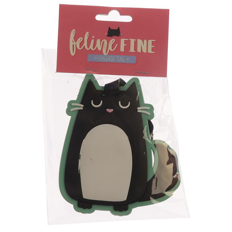 Identificador de mala de viagem PVC - Feline Fine