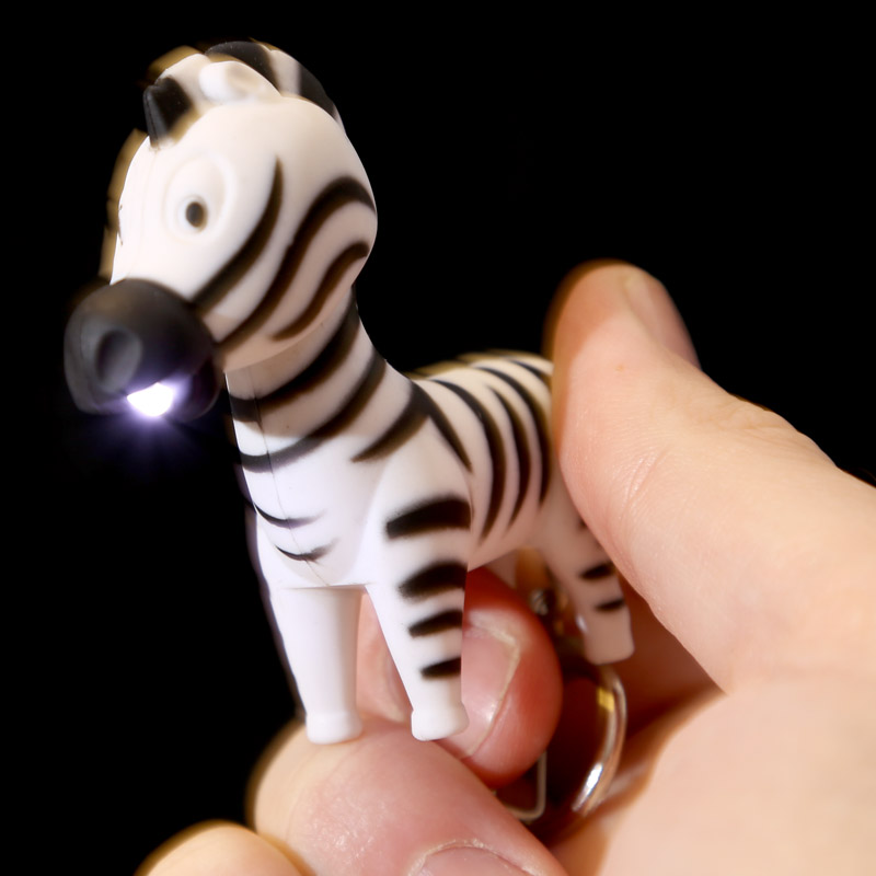 Porta-chaves Animais do Zoo com LED
