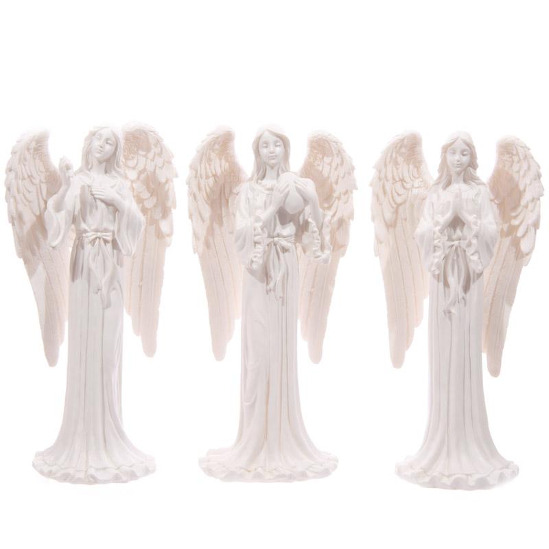 Figura de Anjo cor branco 20cm