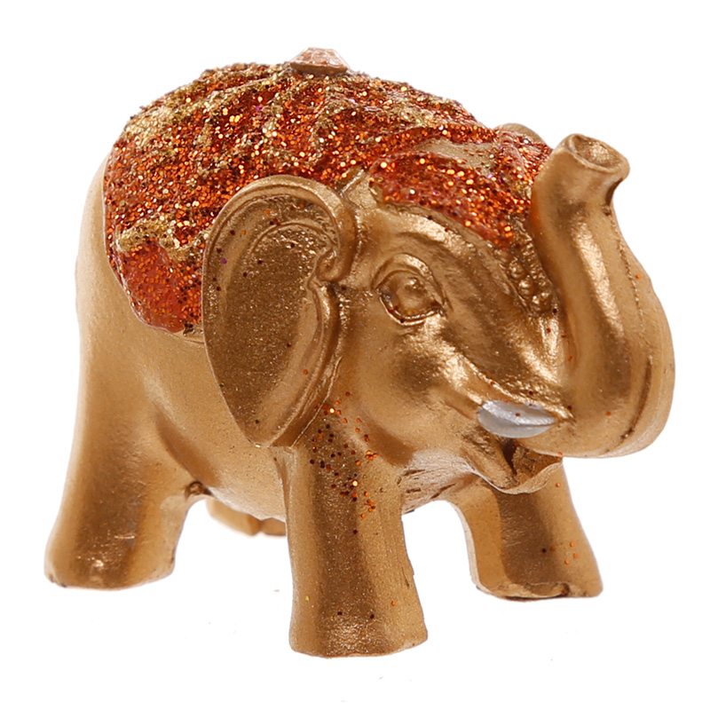 Figura Elefante da sorte dourado