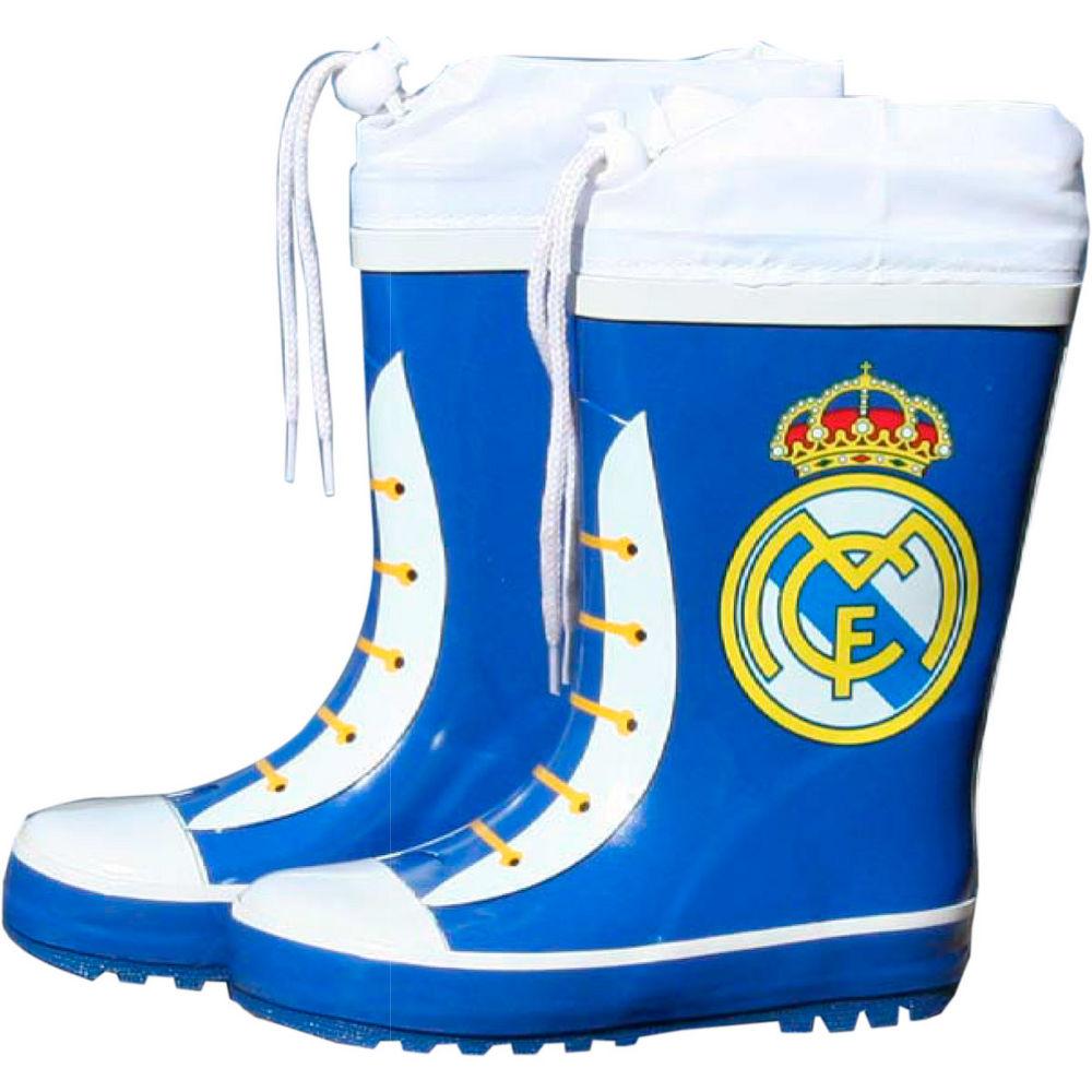 Botas impermeáveis azuis com fecho Real Madrid