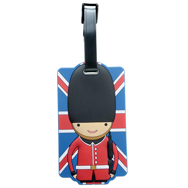 Identificador de mala de viagem em PVC - guarda inglês de Londres