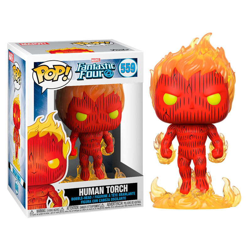 Figura POP Marvel Los 4 Fantásticos Human Torch