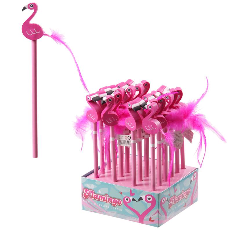 Lápis e borracha Flamingo
