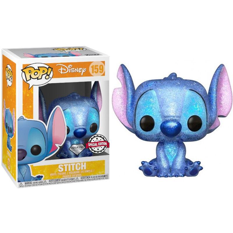 Figura POP Disney Stitch Seated Diamond Glitter Exclusive