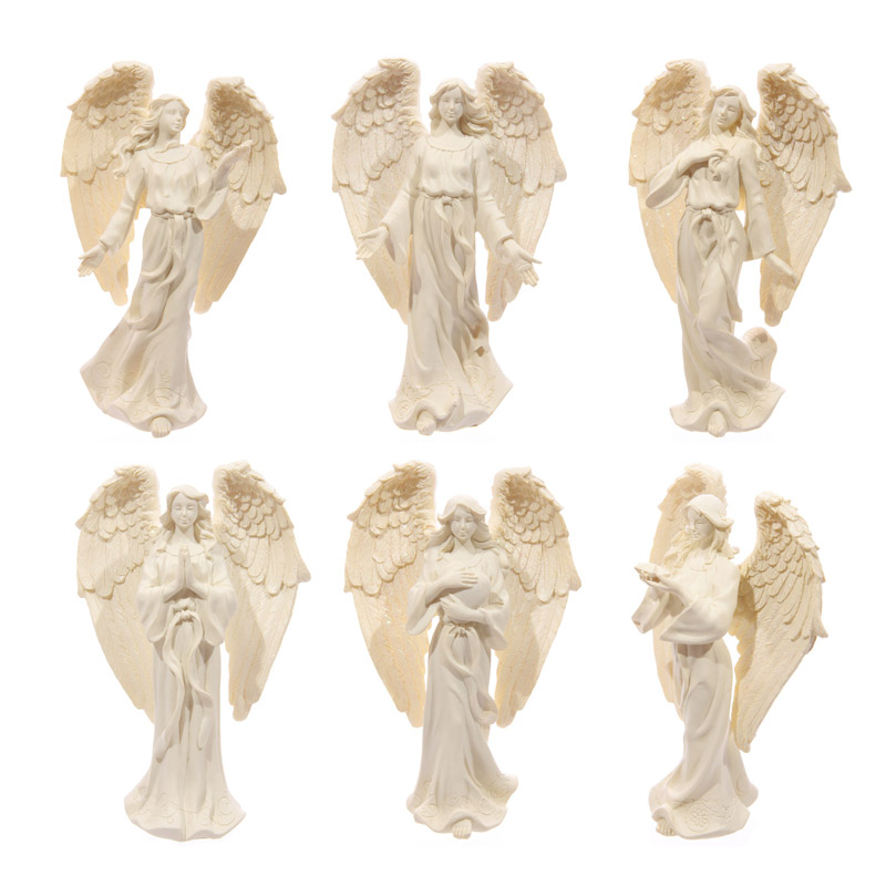 Figura de Anjo cor creme 17cm