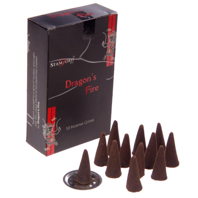 Cones de Incenso Stamford Negro Fogo de Dragoes