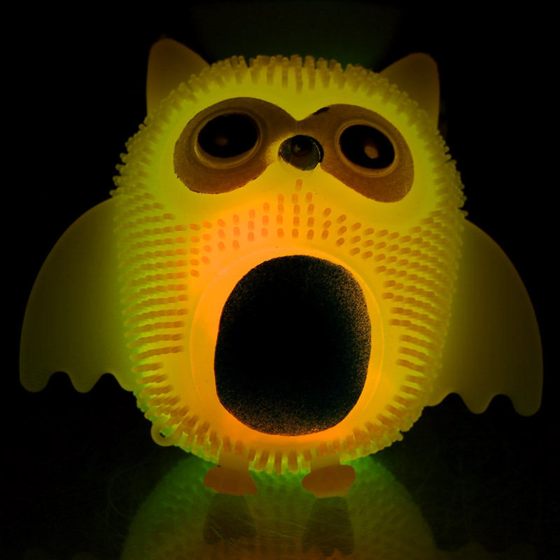 Fun Kids Squishy Light Up Novelty Owl