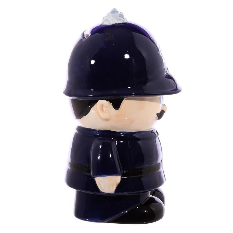 mealheiro de cerâmica forma de Policia Ingles