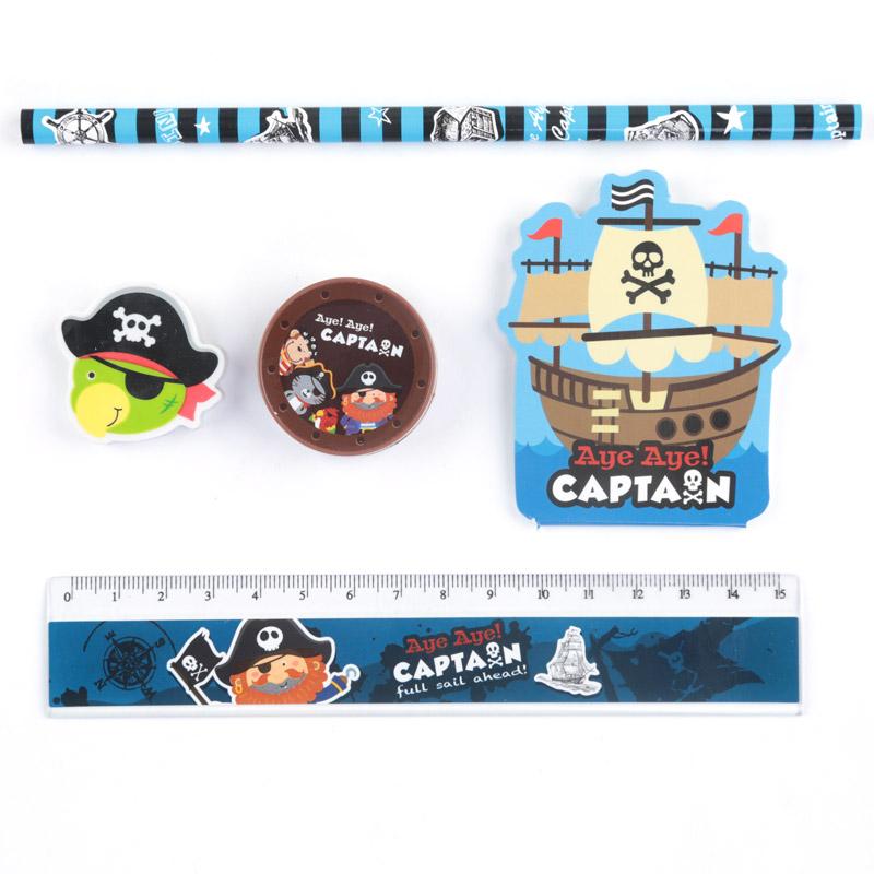 conjunto de papelaria - Capitão Pirata