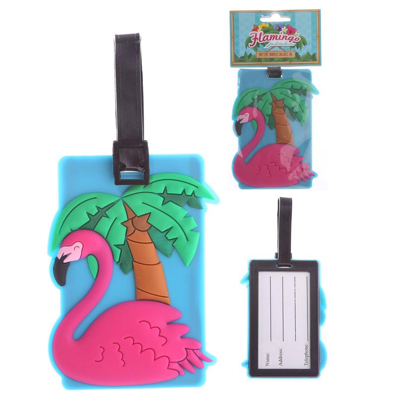Identificador de mala de viagem de Flamingo