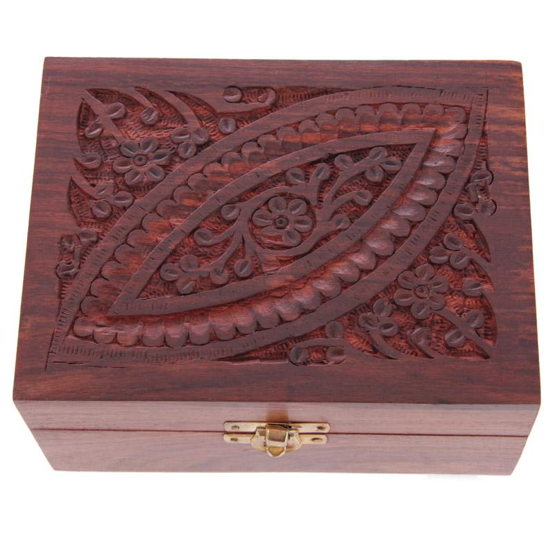 Caixa óleos Essenciais de Madeira Sheesham-Desenho1(12 Frascos)