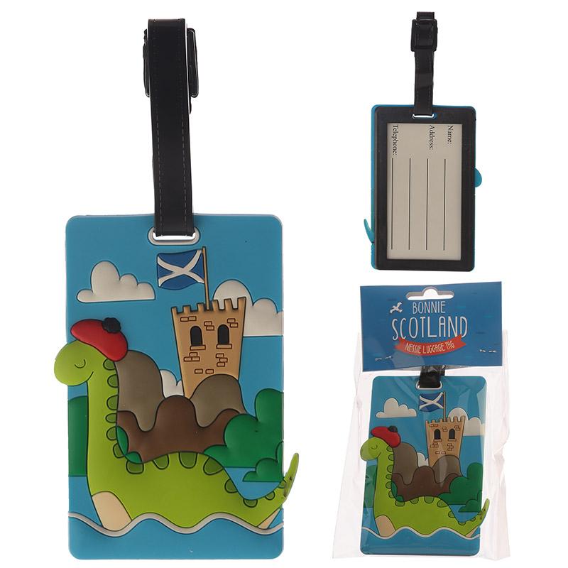 Identificador de mala de viagem PVC - Montro do lago Ness Escócia