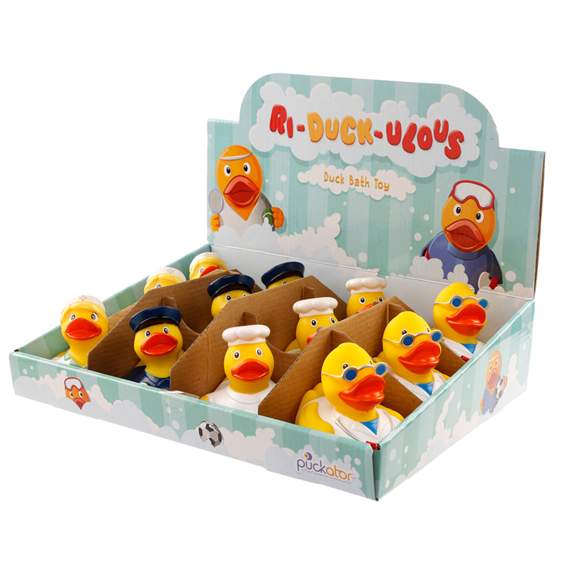 Brinquedo de pato para o banho