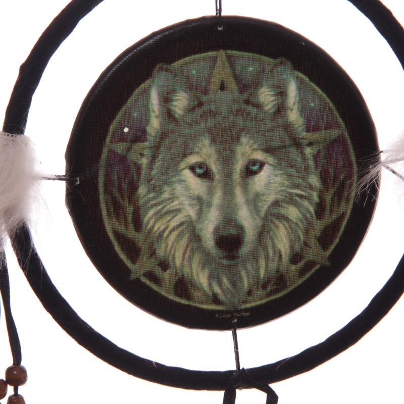 Espanta espíritos design Cabeça de Lobo 16c