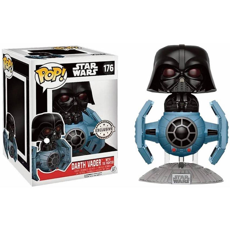 Figura POP Star Wars Darth Vader Tie Fighter 15cm Exclusive