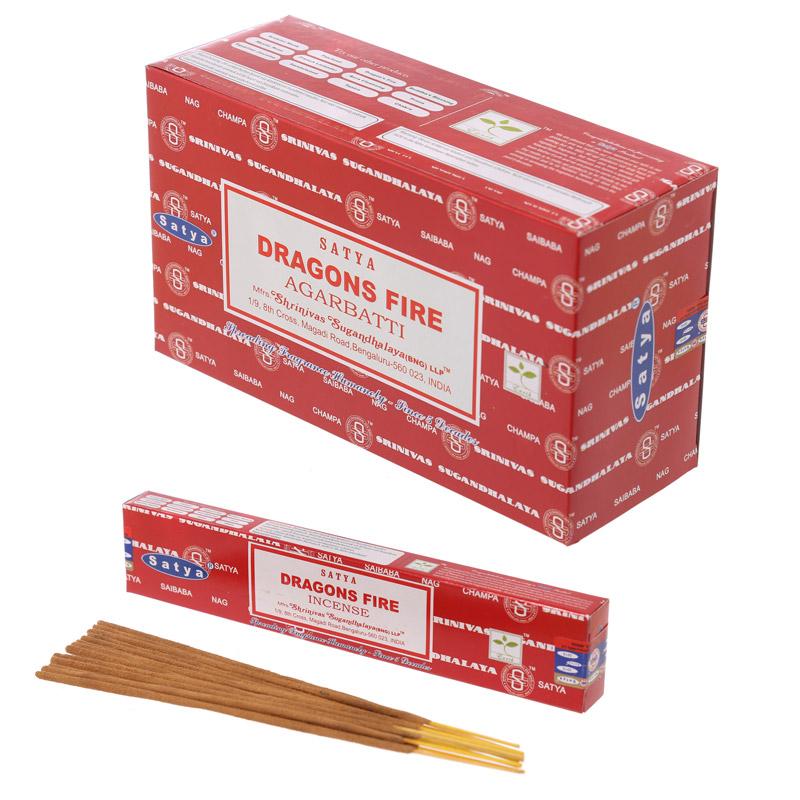 Varas de Incenso Satya Dragão Fire Nag Champa