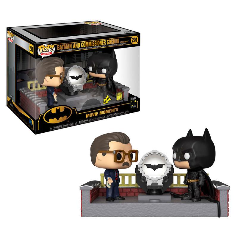 Figura POP DC Comics Batman 80th with Light Up Bat Signal
