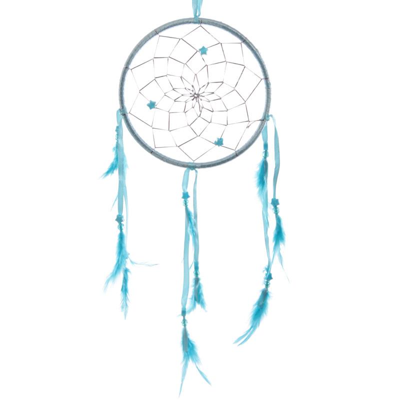 Caca-sonhos laco e pena - 15,5cm