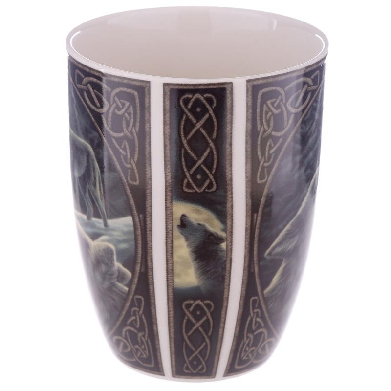 Caneca Porcelana Chinesa Lobos de