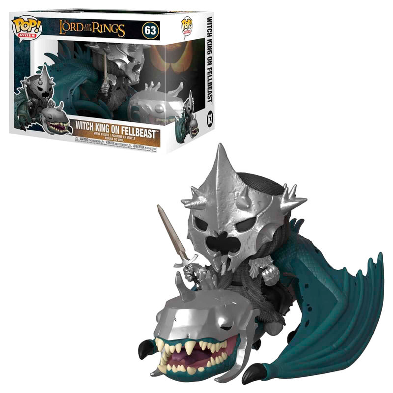Figura POP O Senhor dos Anéis Lord of the Rings Witch King with Fellbeast