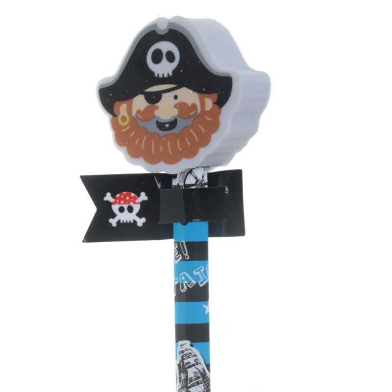 Lápis com borracha Capitão pirata