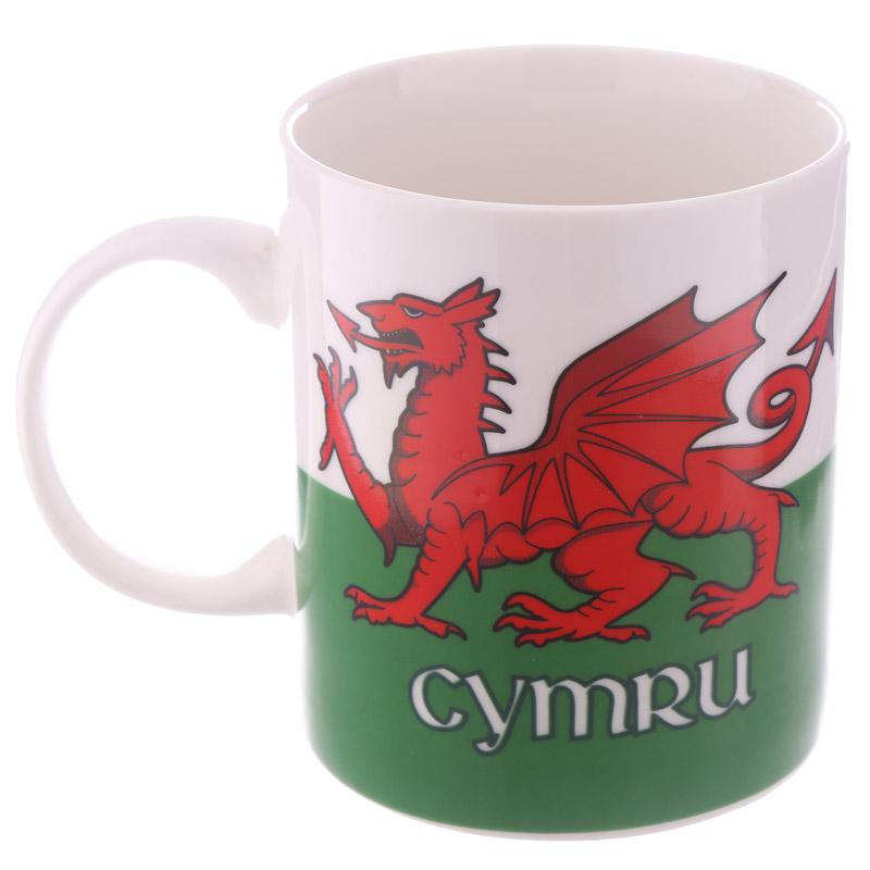 caneca de Porcelana chinesa Dragão de Gales