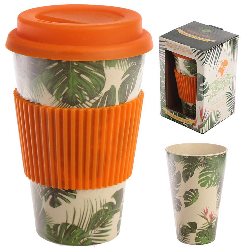 Copo de viagem reutilizável - planta