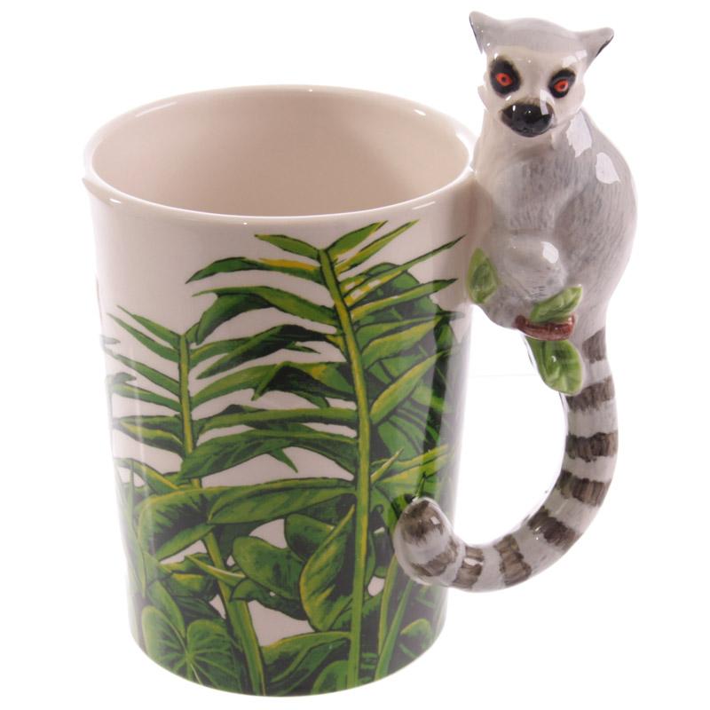 Caneca com Asa em forma de Lemur