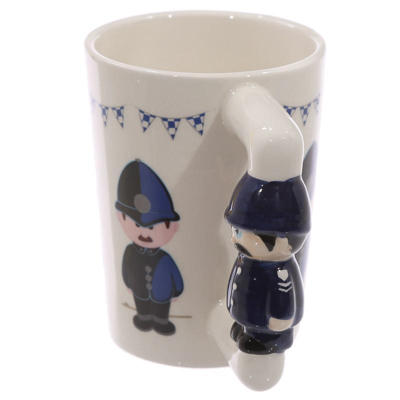caneca de cerâmica com Asa em forma de Policia Ingles