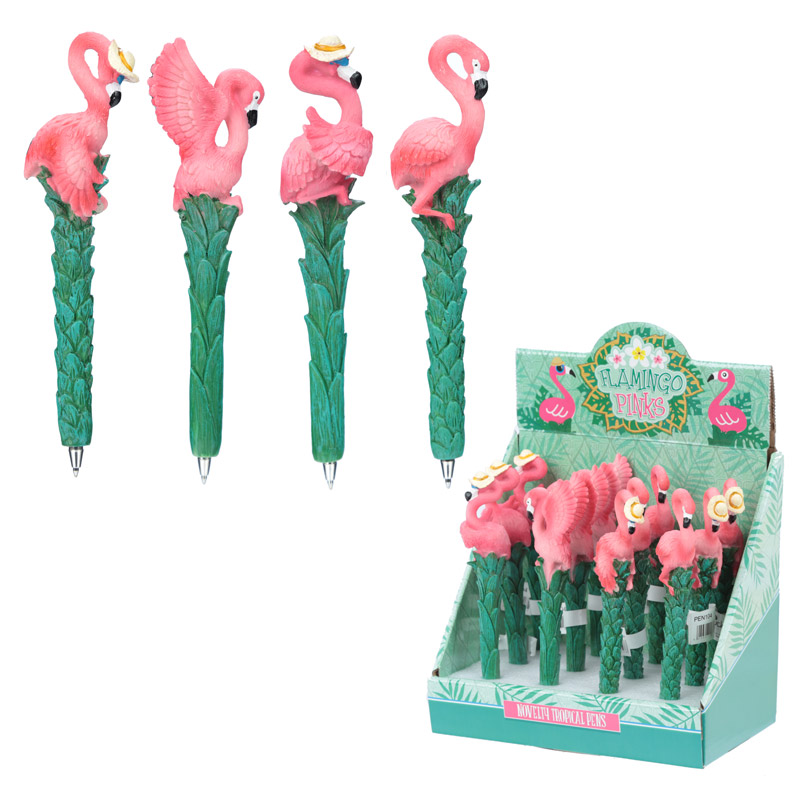 Caneta flamingo funky
