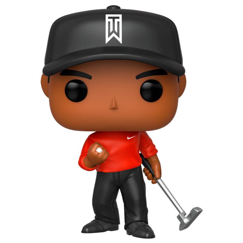 Figura POP Golf Tiger Woods Vermelho Shirt