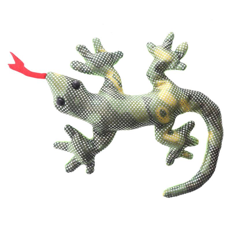 Salamandra Gecko enchida com areia, pequena