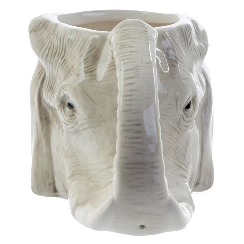Caneca forma cabeça elefante