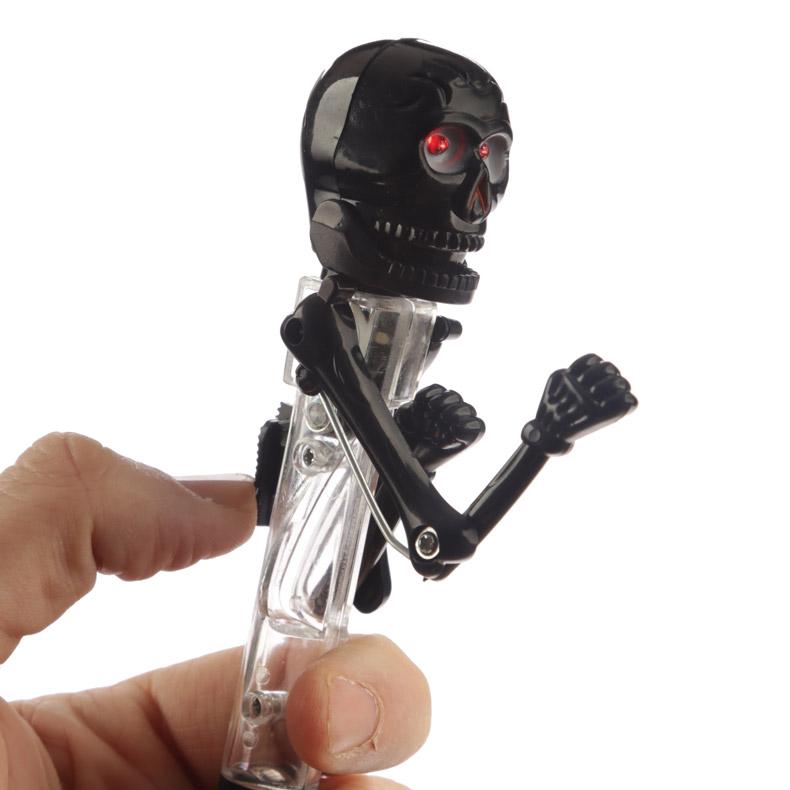 Caneta - Caveira e esqueletos branco e preto