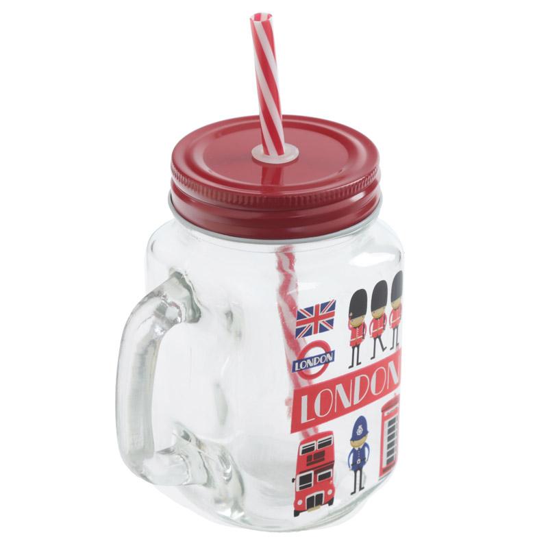 Jarra para bebida com tampa e palha Guarda de Londres