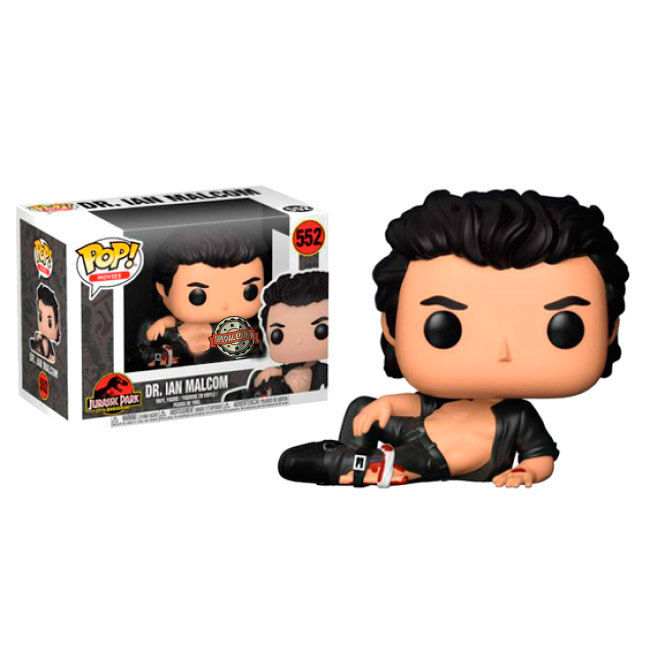 Figura POP Jurassic Park Dr. Ian Malcolm Wounded Exclusive