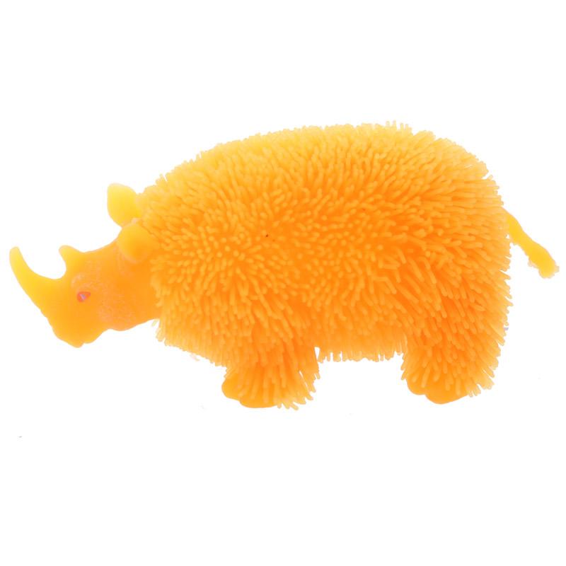 Rinoceronte de borracha com LED