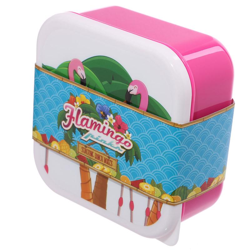 Conjunto de 3 Lancheiras - Tropical e Flamingo de Lauren Billingham