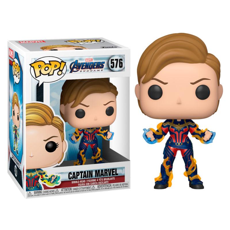 Figura POP Marvel Avengers Endgame Captain Marvel with New Hair
