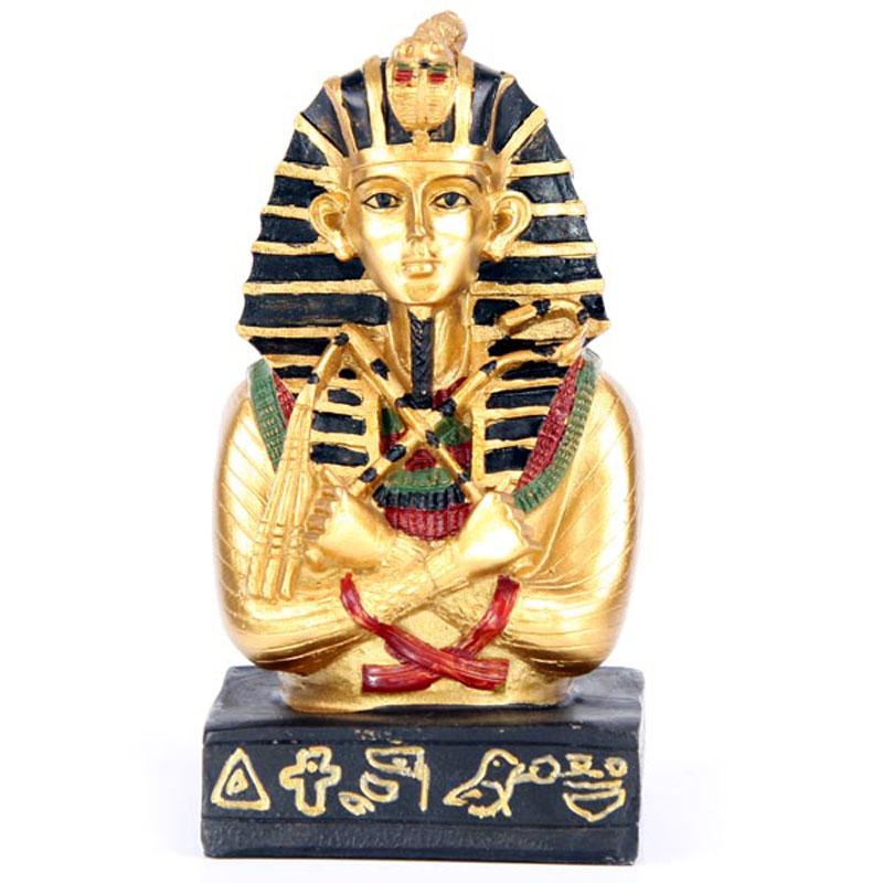 Tutankamon dourado com Báculo e Maeal