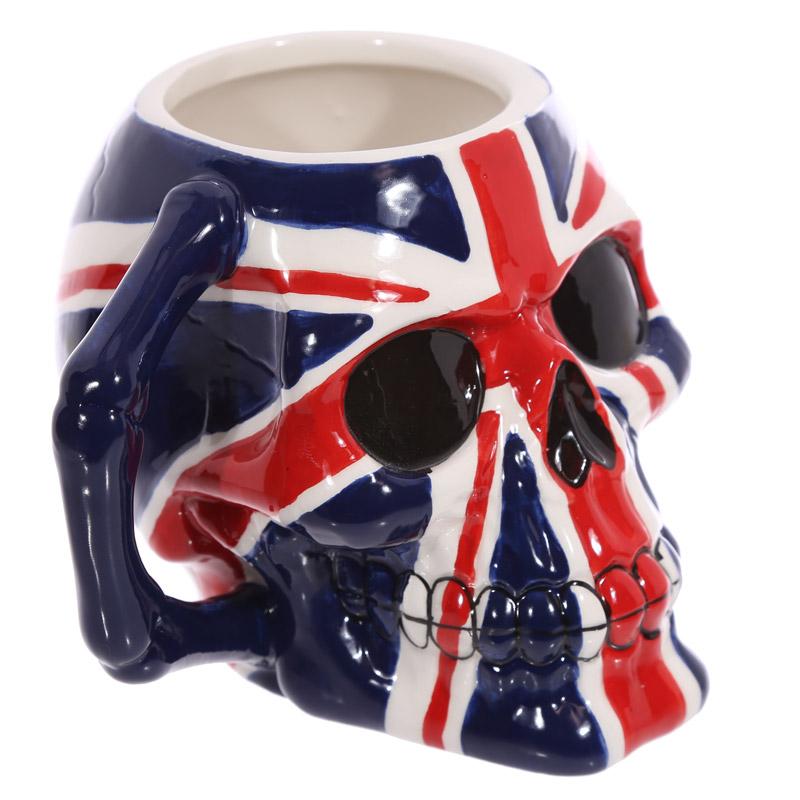 caneca de cerâmica forma de Caveira Bandeira de UK