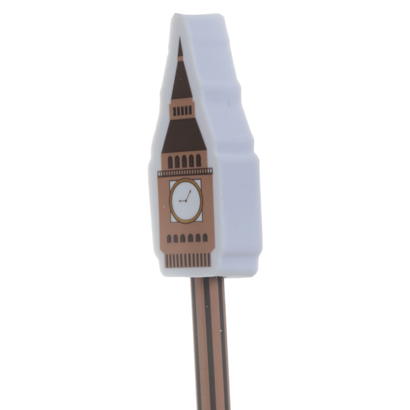 Lápis com borracha ícones de Londres