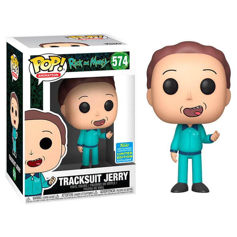 Figura POP Rick and Morty Tracksuit Jerry Exclusive SDCC