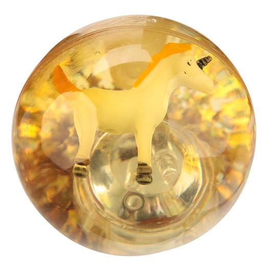 Bola saltitona com luz LED desenho Unicórnio