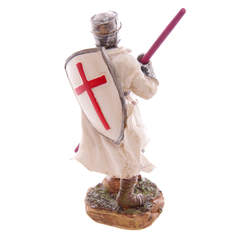 Cavaleiro de Cruzadas em Batalha 16cm