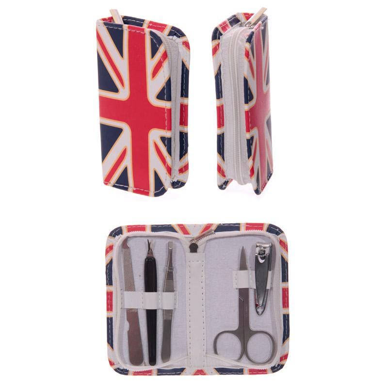 Conjunto de Manicure Bandeira Reino Unido - Union Jack