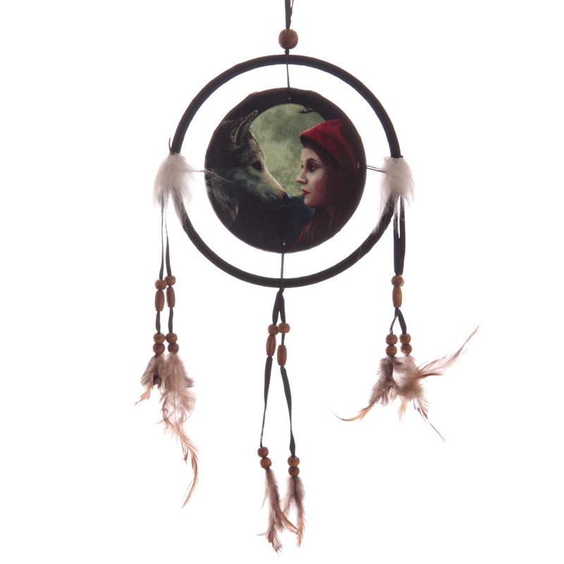Espanta espíritos Lobo com capuchinho vermelho de 1