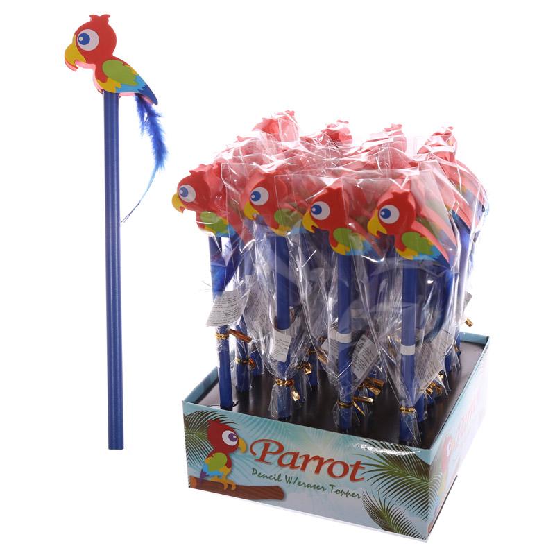 lápis e borracha papagaio