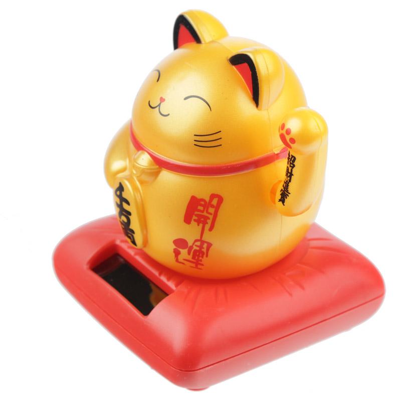 Boneco Solar - gato a mover o braço